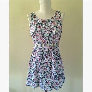 "H&M Floral Dress with Waist & Back Design, ""10"""